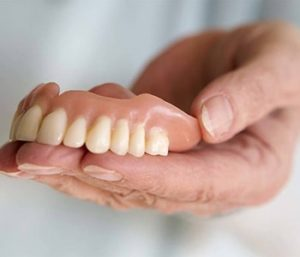 Showing Dentures