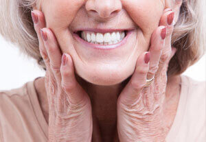 Dentures Calgary - Elderly Woman with Denture